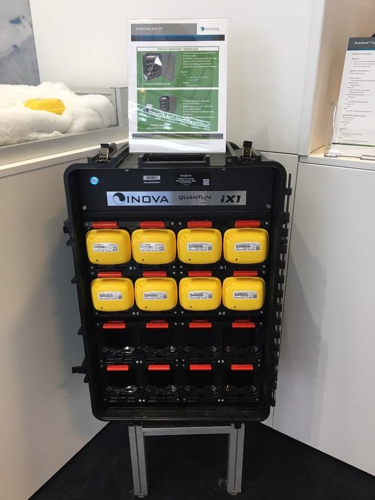 INOVA release portable charge and download rack for Quantum Nodes